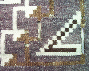 Navajo Rug Restoration and Repair by Penelope Starr - Before