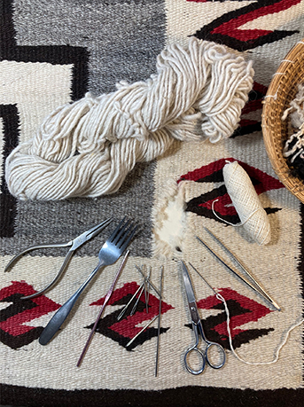 Navajo Rug Restoration and Repair - Weaving tools